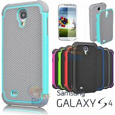 Hybrid Rugged Rubber Matte Protective Case Cover For Samsung Galaxy S4 IV i