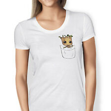 Guardians Of The Galaxy  - Baby Groot in a pocket print- T-Shirt