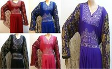 New Muslim Ladies Batwing Hijab/Jilbab/Abaya/Maxi/Kaftan Long Diamantes Dress