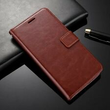 VINTAGE THIN PU LEATHER FLIP WALLET COVER BACK CASE FOR NOKIA 6