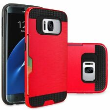 New Armour Hybrid Case Cover with Credit Card Slot For Samsung Galaxy S8, S8+