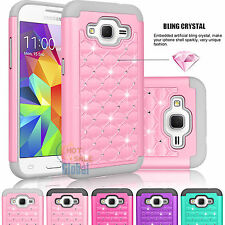 Bling Crystal Hybrid Case Cover For Samsung Galaxy Core Prime Prevail LTE G