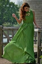 NEW 2016 Ted Baker Green Hayleen Pleated Maxi Dress  RRP £229