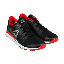 Reebok Reebok Trainflex Mens Black Mesh Athletic Lace Up Running Shoes