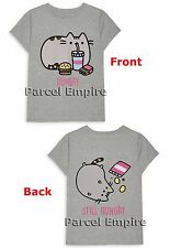 ALL SIZES Official PUSHEEN THE CAT Funny STILL HUNGRY Girls T-Shirt Cute Kitty