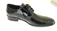 Scarpe cerimonia uomo NERO francesine lucid sposo cuoio made Italy shoes laether