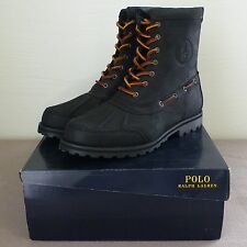 New! Polo Ralph Lauren Whitsand Mens Boots - Black Leather
