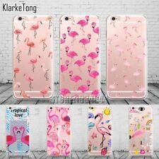 Fashion Soft Colorful Flamingo Case Cover For iPhone 6 6S 5 5s SE 7 7Plus Transp