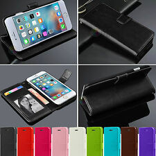 PU Leather Photo Flip Pouch Wallet Card Case Stand Cover Skin For Apple iPh