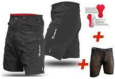 PhobosII MTB Mountain Bike Shorts cycling baggy shorts padded undershorts110