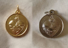 Medal: United Hearts Scapular Medal, Sacred Heart Jesus & Immaculate Heart Mary