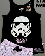 NEU STAR WARS DiSNEY PRIMARK PYJAMA SET TOP + SHORTS SCHLAFANZUG XL = 46-48