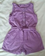 GIRLS PURPLE PLAYSUIT JUMPSUIT SHORTS OUTFIT AGE 2-3 YEARS SLEEVELESS TOP COND