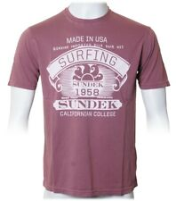 "Sundek ""Logo Shirt"" (Bordeaux-Rot) California Design Herren T-Shirt in dunkelrot"