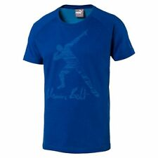 PUMA Usain Bolt Men's Legend T-Shirt Basics Tee Male Nuovo