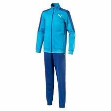PUMA Boys' Large Logo Tricot Track Suit Kids Track Suit Boys Nuovo