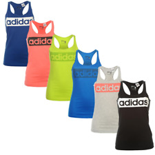 Adidas Mujer Camiseta Sin Mangas Chaleco Fitness de Tirantes Top Linear