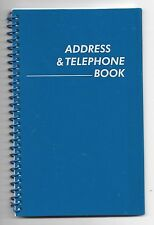 NEW! MEDIUM BLUE SPIRAL ADDRESS BOOK WITH TABBED PAGES - English