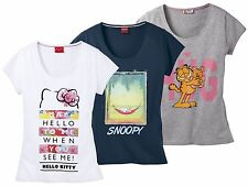 Donna Maglietta fitness tempo libero Camicia hello kitty snoopy GARFIELD
