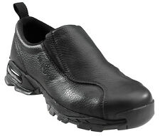 Nautilus Mens Soft Toe ESD Slip On W Black Leather Loafers Shoes