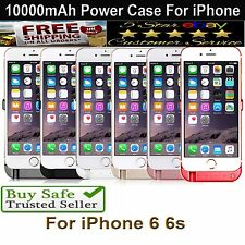 10000mAh External Battery Charger Power Case Cover For Apple iPhone 6 6S