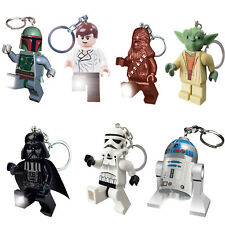 Lego Star Wars New Official Minifigures LED Lite Key Chain Light Torch Keyring