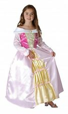 Girls Sleeping Princess Costume Pink Fairy Tale Childs Kids Fancy Dress Outfit