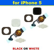 New Home Button Sensor Ribbon Flex Cable Complete Assembly For iPhone 5 5G