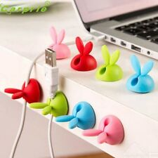 Cute Design 4pcs Cable Winder Lovely Rabbit Shaped Cable Wire Winder Wrap Cord