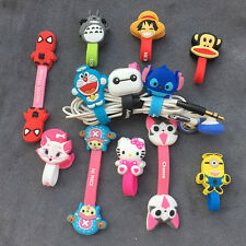 Cartoon Cable Organizer Bobbin Winder Protector Wire Cord For Earphone iPhone