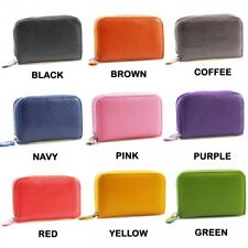 Ladies Womens Faux Leather Small Zip Coin Bag/Pouch/Wallet/Coin/Key Purse New