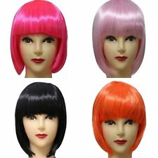 Moda Mujer Sexy Full Bangs Wig Short Wig Straight BOB Hair Cosplay Party