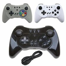 Wireless Gamepad Hand Joypad Cable & Remote Controller For Nintendo Wii U