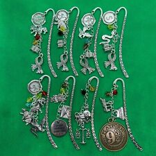 Harry Potter Hogwarts Gryffindor Slytherin Metal Bookmark Charms J K Rowling NEW