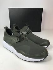 PUMA BLAZE OF GLORY NU X STAMPD FOREST NIGHT GREEN WHITE MENS SNEAKERS TRAINERS