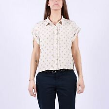 Nice Thing Small Flowers SS Shirt 108 White  top camicia smanicato donna woman