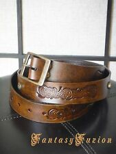 Medieval LARP Tribal Stamps Leather Belt