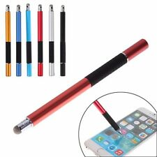 2 in 1 Capacitive Touch Screen Stylus Pen For iPhone Pad Samsung Tablets Phones