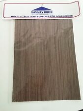 Dollhouse Miniature Handley House Dark Walnut Wood Floor Sheet