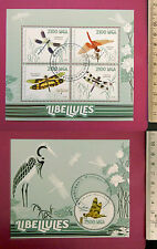 Animal INSECTs Dragonflies 2015 perf 4 value Sheetlet CTO Excellent NH UKseller