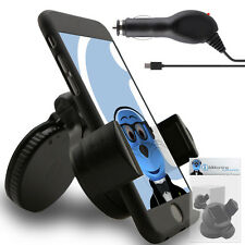 Suction In Car Holder And Micro USB Charger For Vodafone 858 Smart