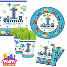 All Aboard Tableware 1st Birthday Baby Party Cups Plates Napkins Tablecovers