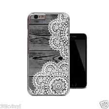 Dark Wood White Lace Unique Clear Case For iPhone 4 4s 5 5s 5c 6