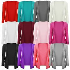 New Girls Kids Children Boyfriend Long Sleeve Plain Jersey Cardigan Top AGE 7-13