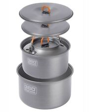 360 DEGREES FURNO LARGE POT SET WITH KETTLE 6 PIECE COOK SET HARD ANODIZED