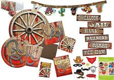 RODEO WILD WESTERN Party Tableware & Decorations Birthday Napkins Plates Cowboy