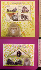 Wild Animal GORILLAS 2014 CONGO perf. Sheetlet CTO stamped NH Excellent uk