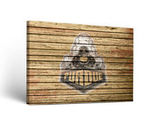 Purdue Boilermakers Canvas Wall Art Weathered Design