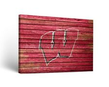 Wisconsin Badgers Canvas Wall Art Weathered Design