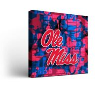 Ole Miss Rebels Canvas Wall Art Fight Song Design